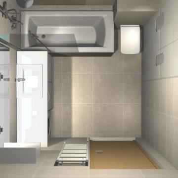 łazienka w bloku z wanną aranżacje