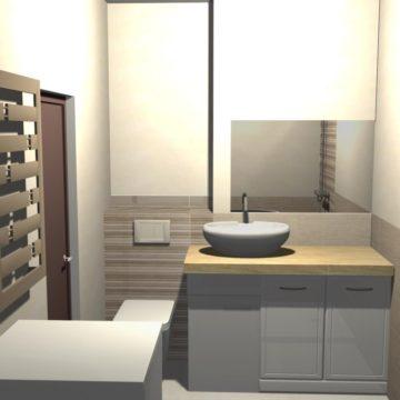 łazienki w bloku z prysznicem aranżacje