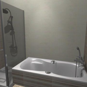 mała łazienka dla starszej osoby