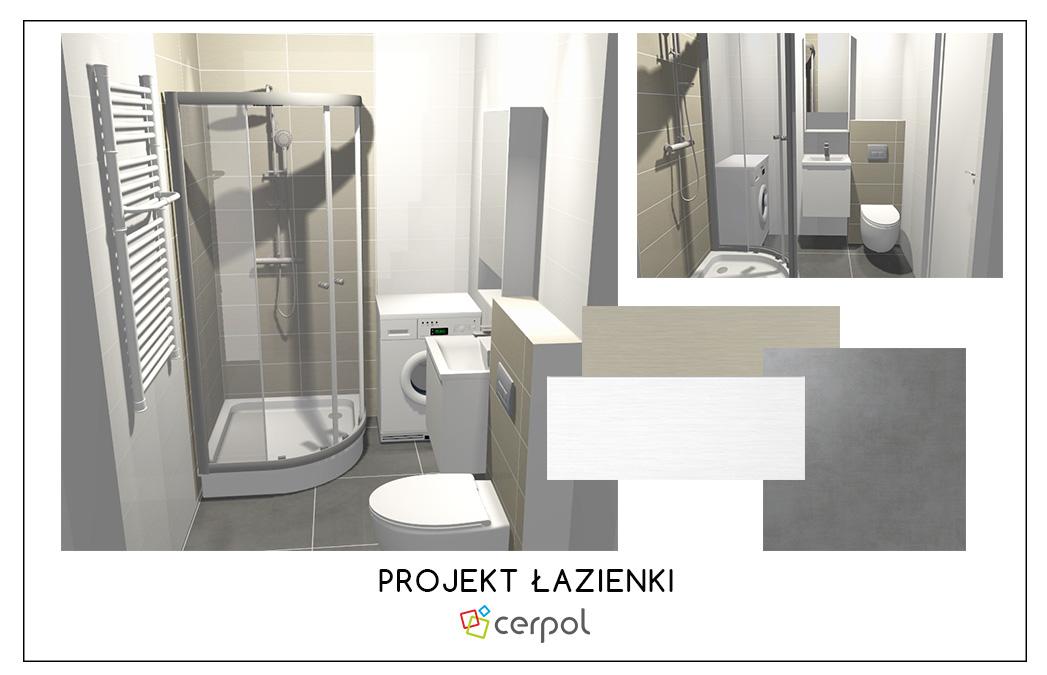 Projekt łazienki Gratis Galeria Wnętrz Cerpol