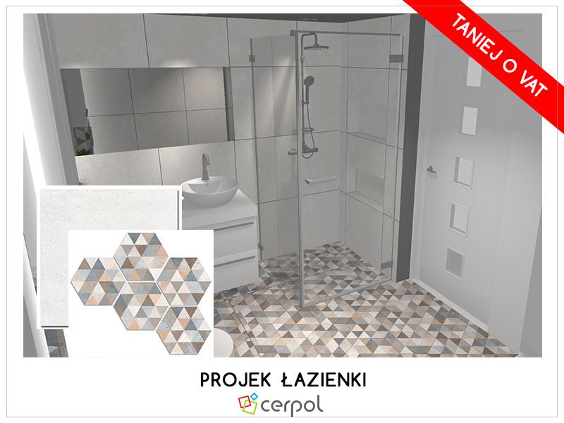 projekt łazienki wbloku